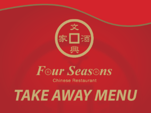 Four Seasons Take Away Menu